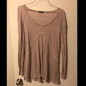 Faded Lavender Long-Sleeve Top